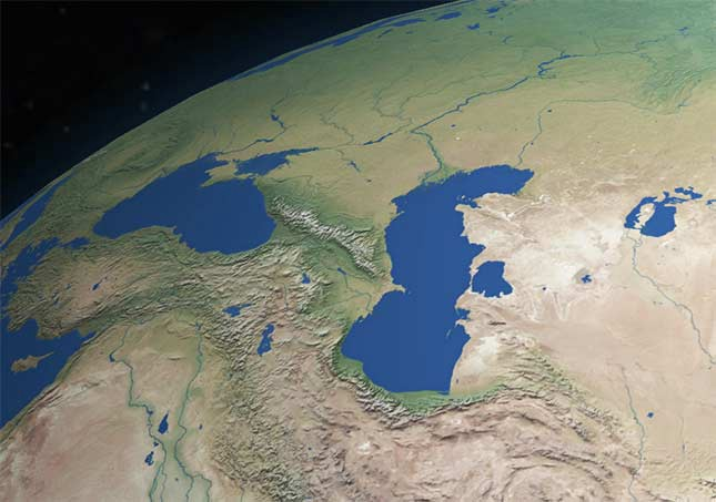 Do the oceans have real boundaries ignasi lirio medium the caspian sea in the middle is not a lake but a portion of the world ocean that due to tectonics became enclosed inside the asian continent image by gumiabroncs Images
