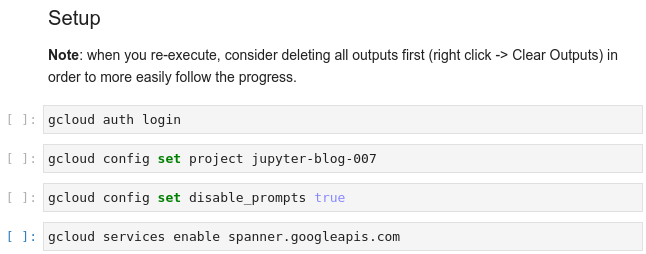 Managing and Executing gcloud Commands in JupyterLab
