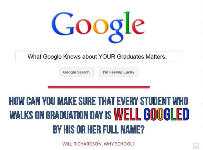 Image from Bill Ferriter at: http://teacherleaders.typepad.com/the_tempered_radical/2012/12/what-are-you-doing-to-make-sure-your-students-are-well-googled-1.html
