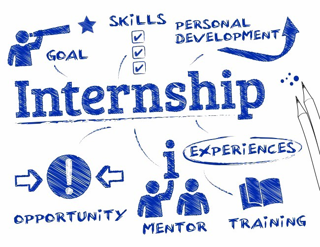 The image above shows the loop of how to acquire and go through an Internship.