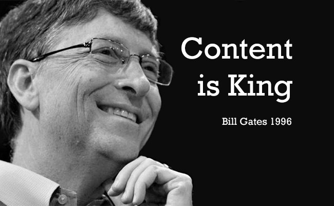 Content Is King Essay By Bill Gates 1996