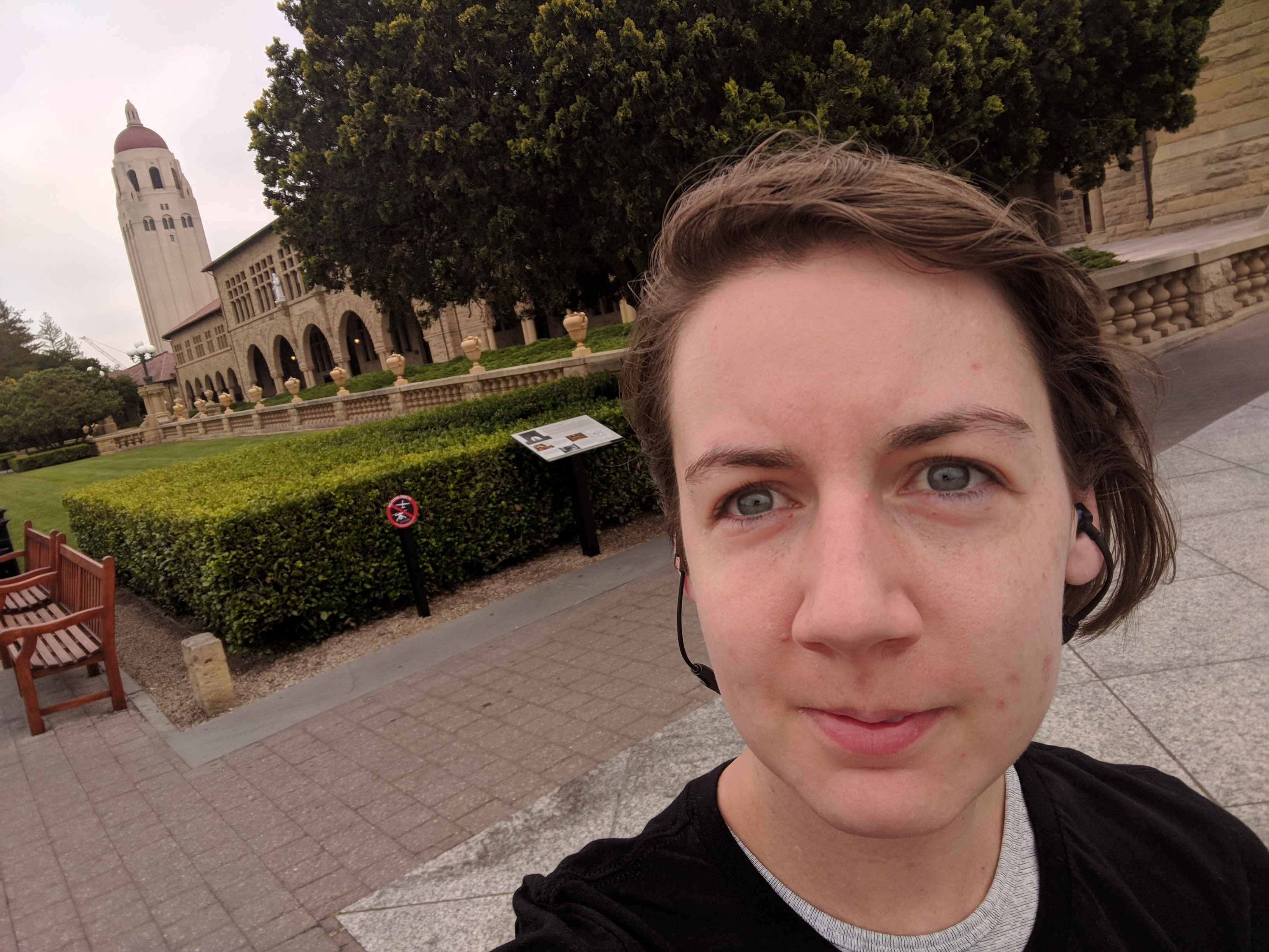 I got to run around Stanford University one morning before work.
