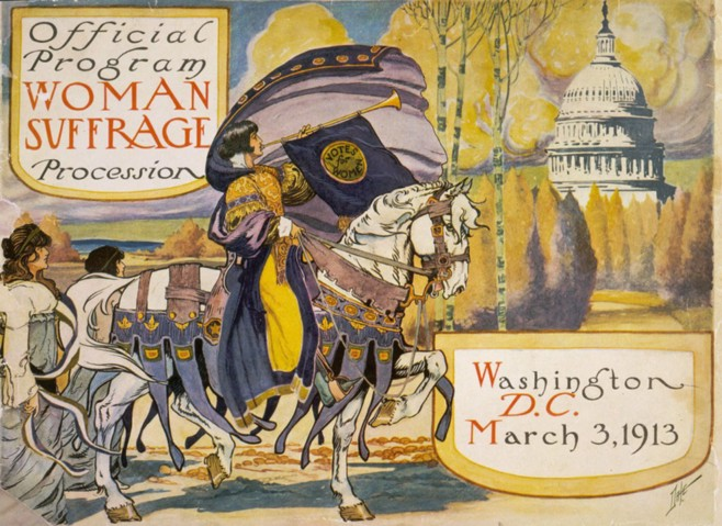 Program cover for suffrage procession in Washington, D.C. March 3, 1913