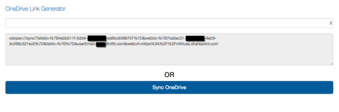 OneDrive Sync Link