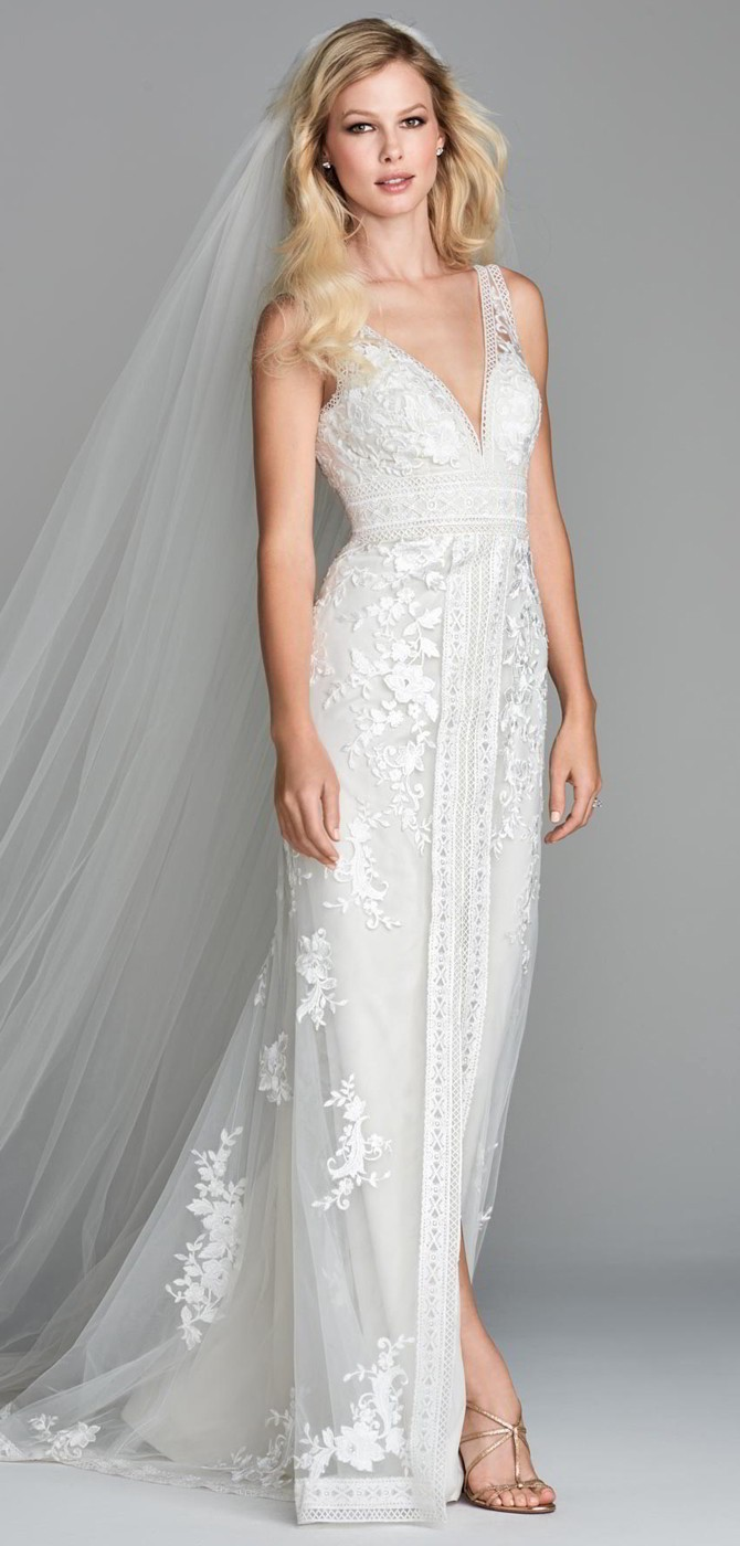 Wtoo Spring 2018 Wedding Dress Scrollwork Inspired Hestia And Deryn Trims Intersect With Juniper Fl Motifs To Create A Greco Roman V Neck