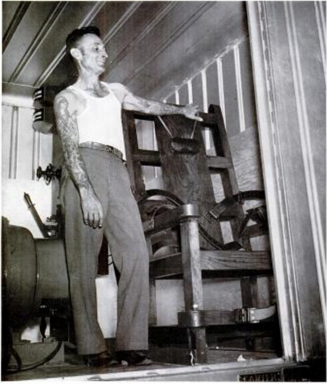 In 1940 Mississippi was really proud of its brand new electric chair – Electirc Chair