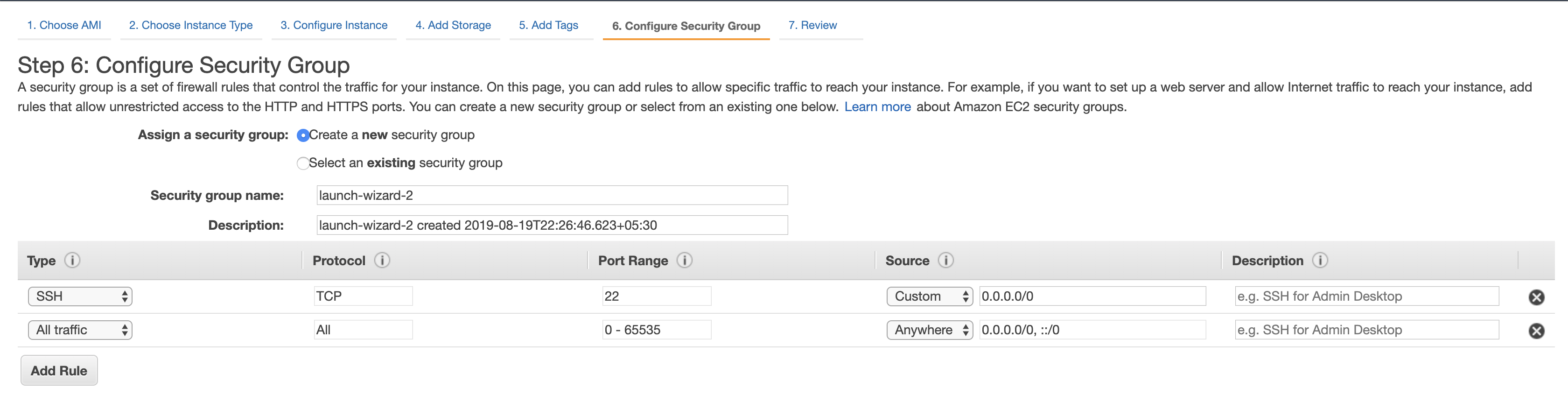 Configure Security Groups