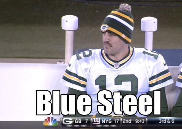 Aaron Rodgers Mustache Blue Steel