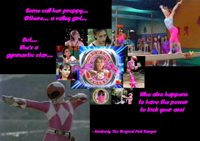Kimberly the pink Power Ranger