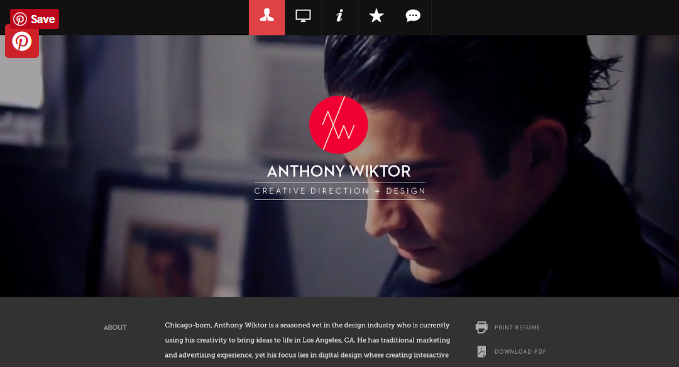 Anthony Wiktor Uses A Simple But Slick Logo Using Just His Initials. This  Logo Works Well With The Websiteu0027s Overall Theme.