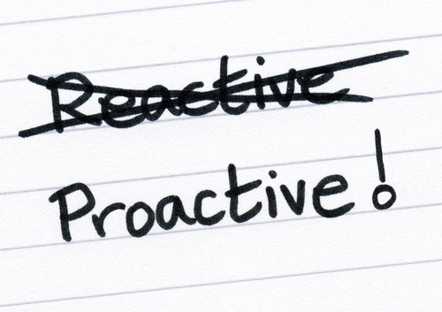 being proactive Being proactive in the workplace means making decisions in advance to optimize future production, efficiency, profits or career success being reactive means waiting until problems emerge before stepping in to resolve them.