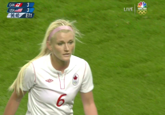 Kaylyn Kyle During Canada vs USA Semi-Final Olympic Game