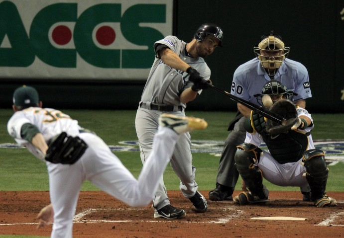 Dustin Ackley hit a home run on Opening Day in Japan last season.
