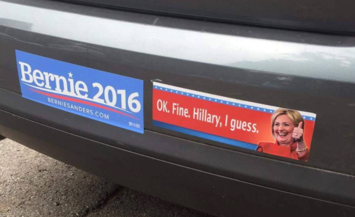 In a small way hillary did make history as the first political candidate to inspire bumper stickers