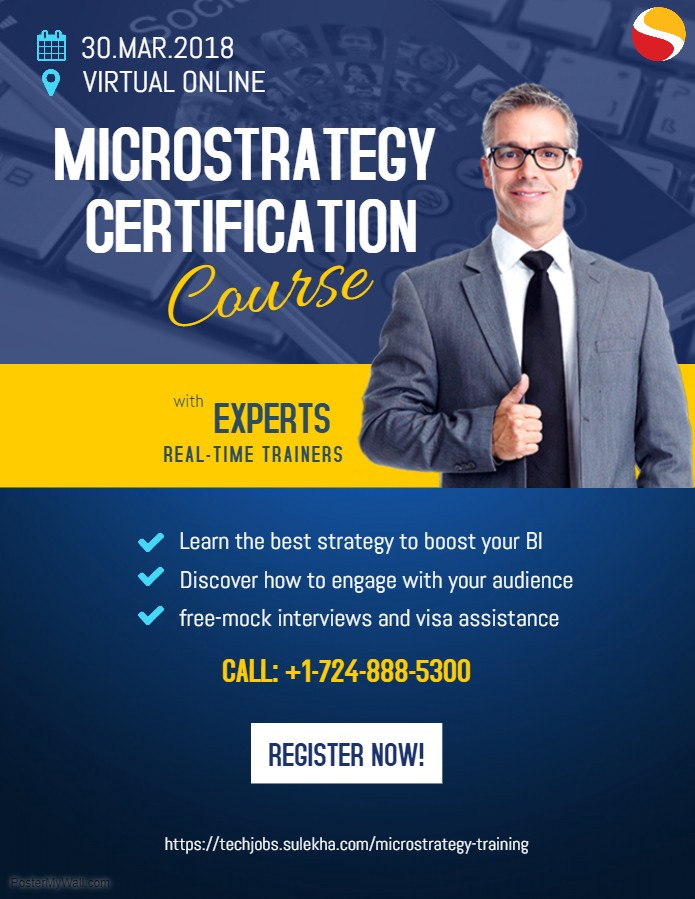 Microstrategy Certification Course from Real-Time Trainers