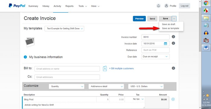 Save Time Billing Customers With PayPals Invoicing Tools - Invoice writing software