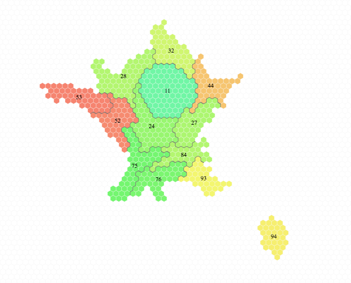 New From Tilegrams Make A Hex Map With France And Germany Borders