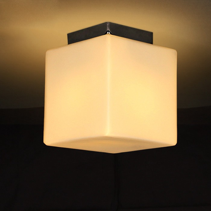 Review glace modern small white glass cube shade 1 light minimalist glace modern small white glass cube shade 1 light minimalist semi flush mount ceiling light product description aloadofball Gallery