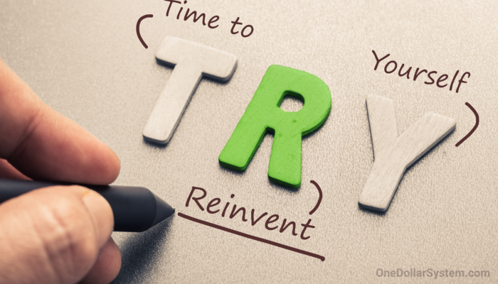 TRY = Time to Reinvent Yourself