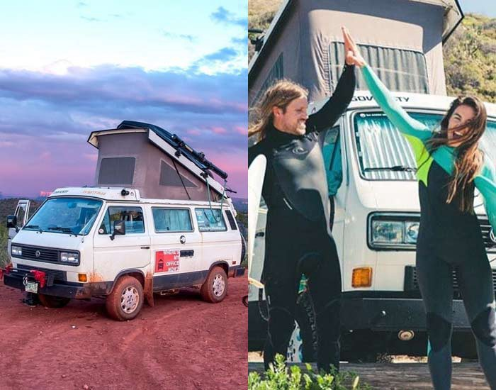 Corey Smith And Emily King Have Been Living The Modern Nomad VanLife For Last 4 Years Theyve Out Of A 1987 Volkswagon Vanagon Their