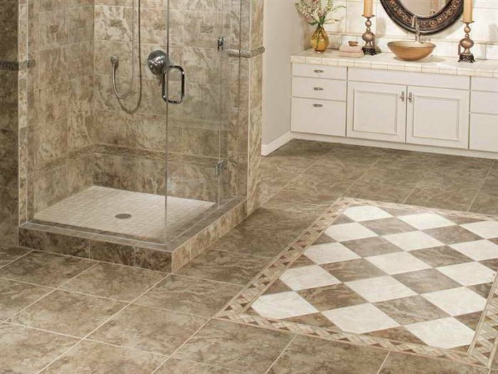 Types Of Bathroom Floor Tiles Choosing Bathroom Flooring - Types of bathroom flooring