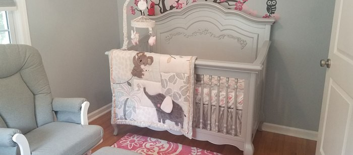 A Calm And Cheerful Nursery Featuring The Evolur Aurora Collection Part 1 Of 3
