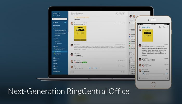 if you like glip you ought to love the new ringcentral office a single collaborative communications experience for messaging and calling task management