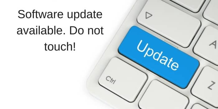 Software Updates Ignore And Have A Nice Day Update Available