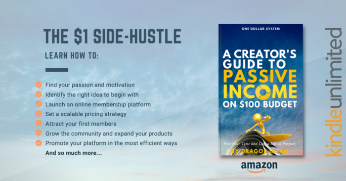 Learn to: Build your passion and motivation Find the right problems to build products around Launch an online platform you 100% control Set a scalable pricing Attract your first members Communicate and promote your work in the most efficient ways And so much more...