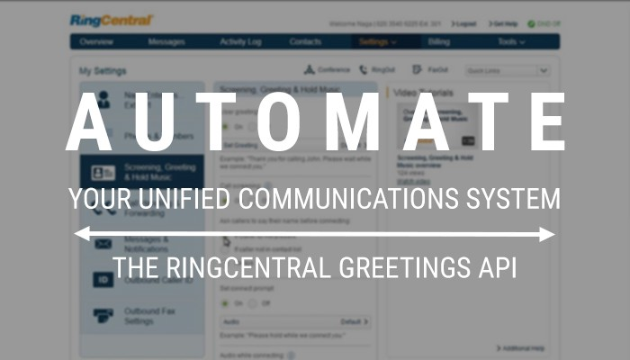 Updating ringcentral user extension greetings using the rest api and ringcentral has a very useful ability to customize voicemail and custom greetings via the online account portal httpsserviceringcentral m4hsunfo