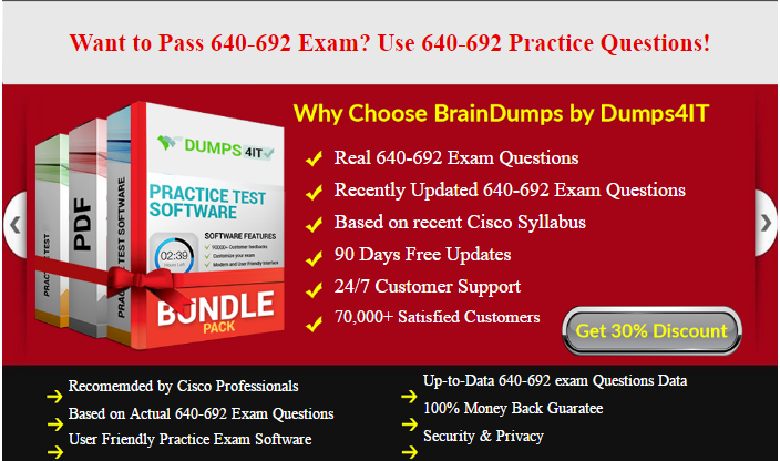 RSTECH 640–692 Cisco Certified Technician Routing & Switching Exam ...