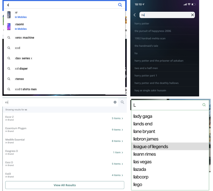Screenshots of lists on platforms; its always a finite number