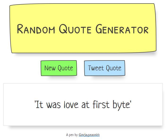 Random Quote Generator Prepossessing How I Built My Random Quote Generator  Codeburst
