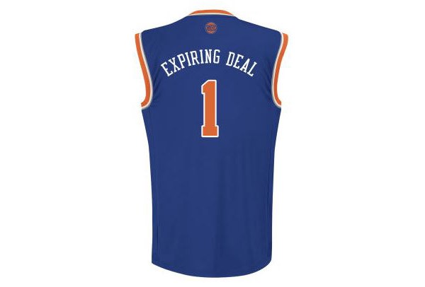 34ce5567e Knicks sell out of Expiring Deal jerseys within first 12 hours of ...