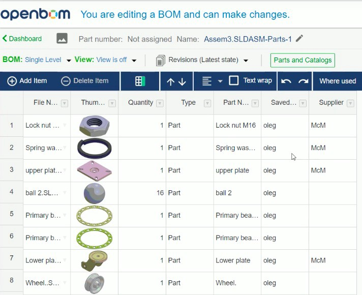 Video Openbom For Solidworks 3 Minutes Live Demo About New