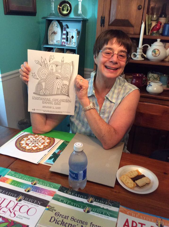A Big Fan Getting Her Coloring On With Cookies And Dover Thank You Cheryl Taylor Bagenstose