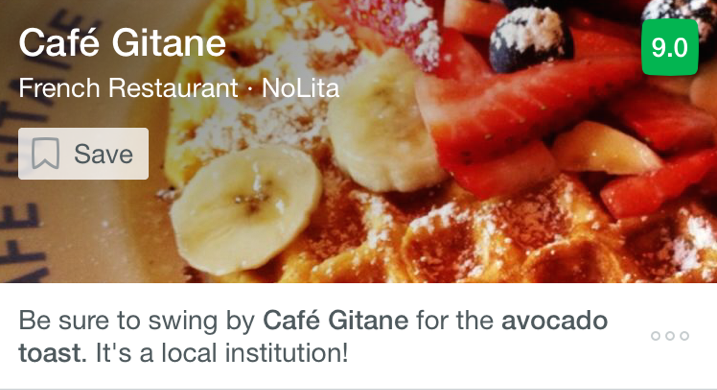 Cafe Gitane French restaurant local institution justification