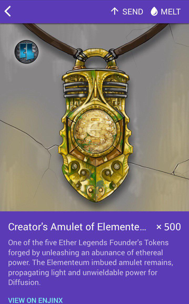 Ether Legends TCG— The Amulets (MFT's) Enjin Imbued ERC-1155's