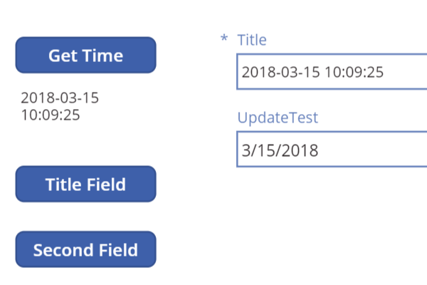 powerapps patch update record