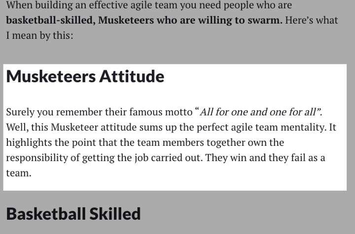 The Musketeers Attitude all startup teams need