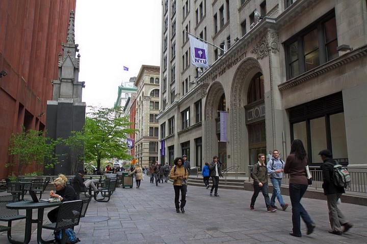 The NYU Student Services building on Mercer Steet.