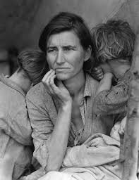 "The Great depression photo: Migrant Mother"" by Dorothea Lange"