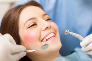 woman at cosmetic dentist