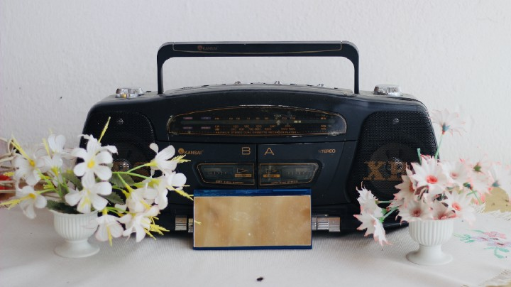 double tape deck radio