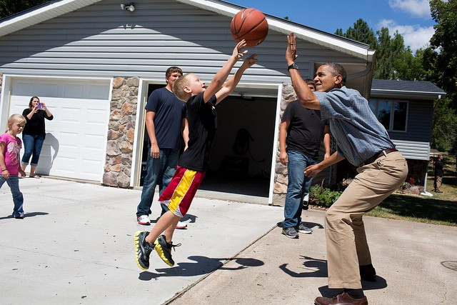 America's cool uncle will play some hoops with you now.