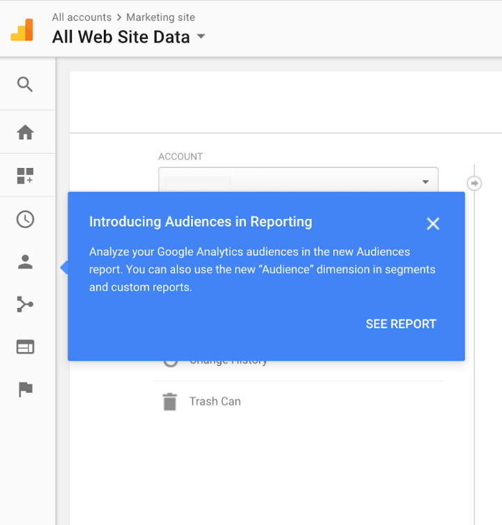 Best in-app messaging examples to engage users - Google Analytics Feature Announcement