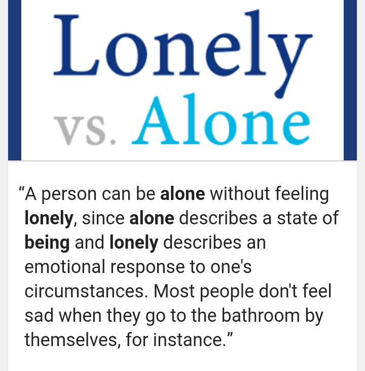 How to not be lonely