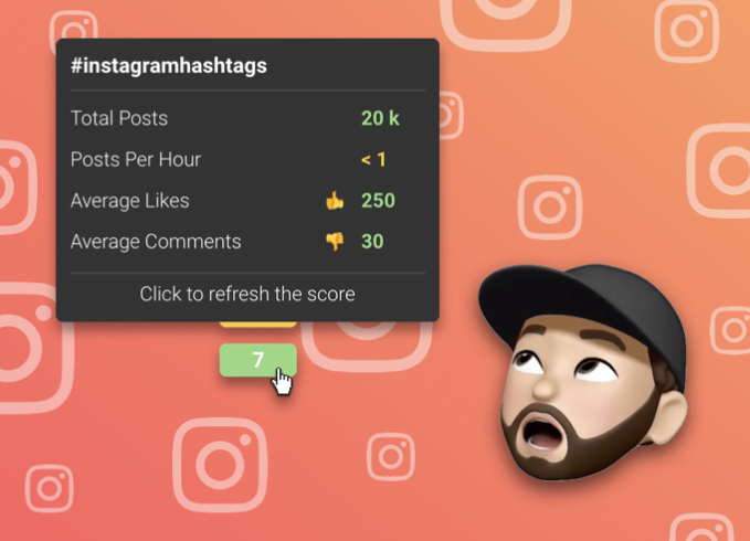 new instagram hashtag update for Curate