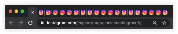 lots of instagram tabs opened