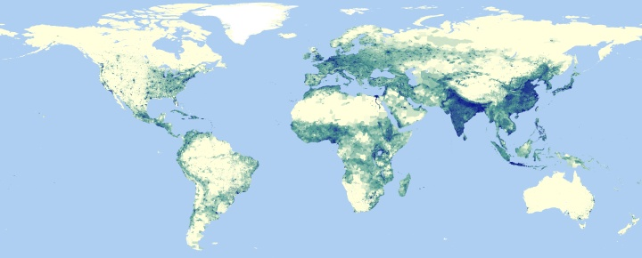 The global population of the world google earth and earth engine estimated 2015 global population distribution from ciesins gridded population of the world gpwv4 gumiabroncs Image collections